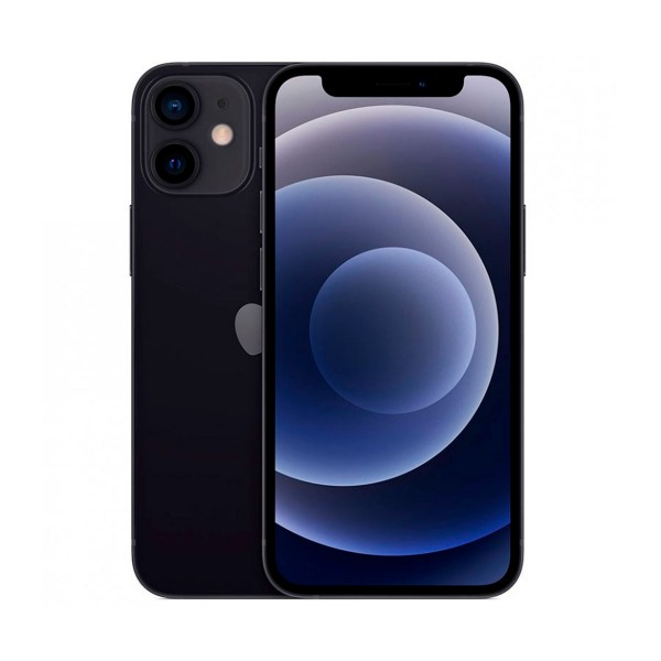 Apple iphone 12 mini negro móvil dual sim 5g 5.4'' oled super retina xdr cpu a14 bionic 256gb 6gb ram dualcam 12mp selfies 12mp